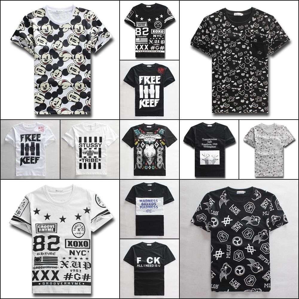 Shirt new design 2015 - New Fashion 2015 Summer Men Womens Tee Shirts Harajuku Style Print Bandana Cartoon Letter Jordan Funny Short Sleeve T Shirts
