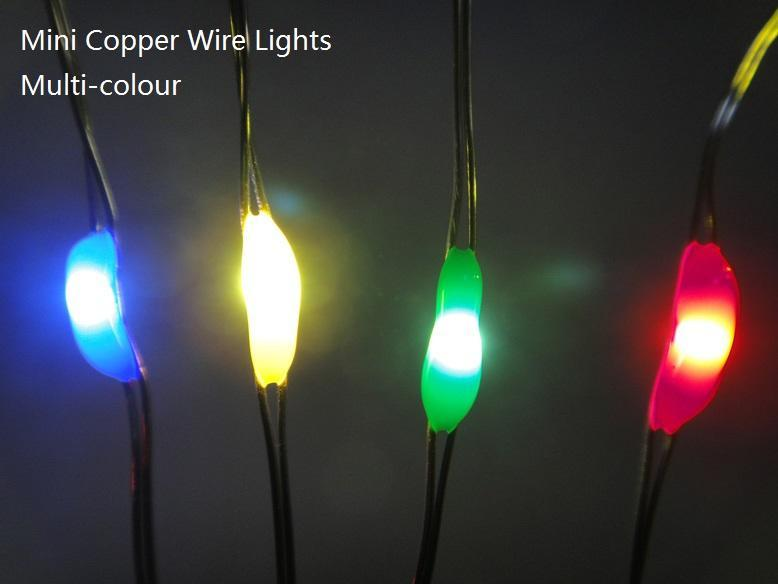 Copper Wire Lights:20led 2m/6.6ft Micro Led Battery Operated,3aa Battery Box,For Holiday,Wedding ...