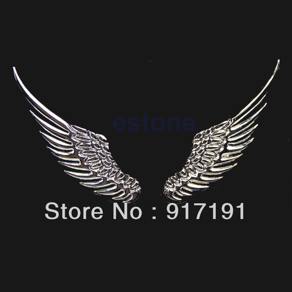 Design a car decal online - 3d Alloy Metal Angel Hawk Wings Design Car Emblem Badge Decal Logo Sticker Order 18no Track Sticker Design Sticker Vinyl Sticker Dispenser Online With