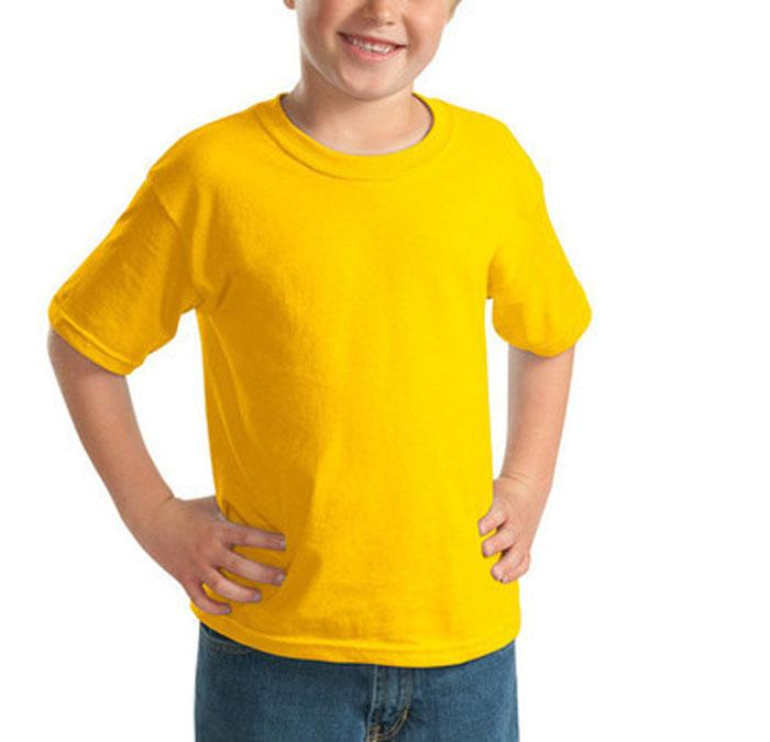 2017 new summer kids boys t shirts solid color blank for Yellow t shirt for kids