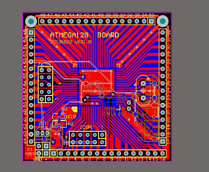 Atmegab Board Microsystem Board Schematic Atmega128 Max809