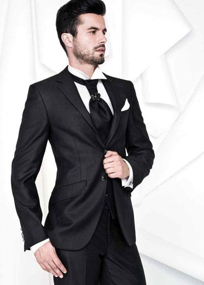 Italian Design Notch Lapel Black Groom Wear Tuxedo/Wedding Suits ...
