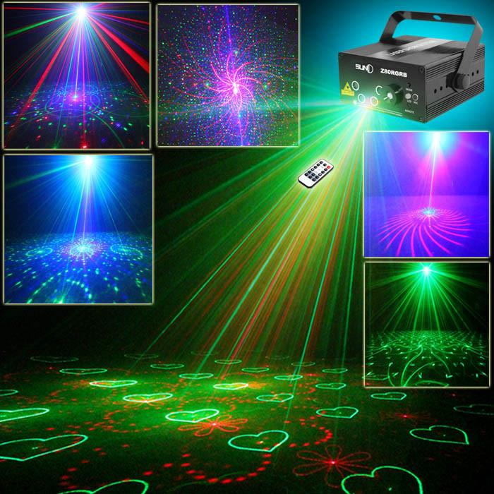 Suny Remote 5 Lens 80 Pattern Rg Mini Led Laser Projector 3w Blue ...
