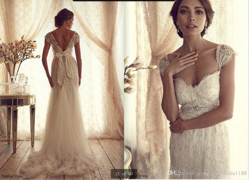 Discount anna campbell tulle bridal gown 2014 vintage for Anna campbell vintage wedding dress
