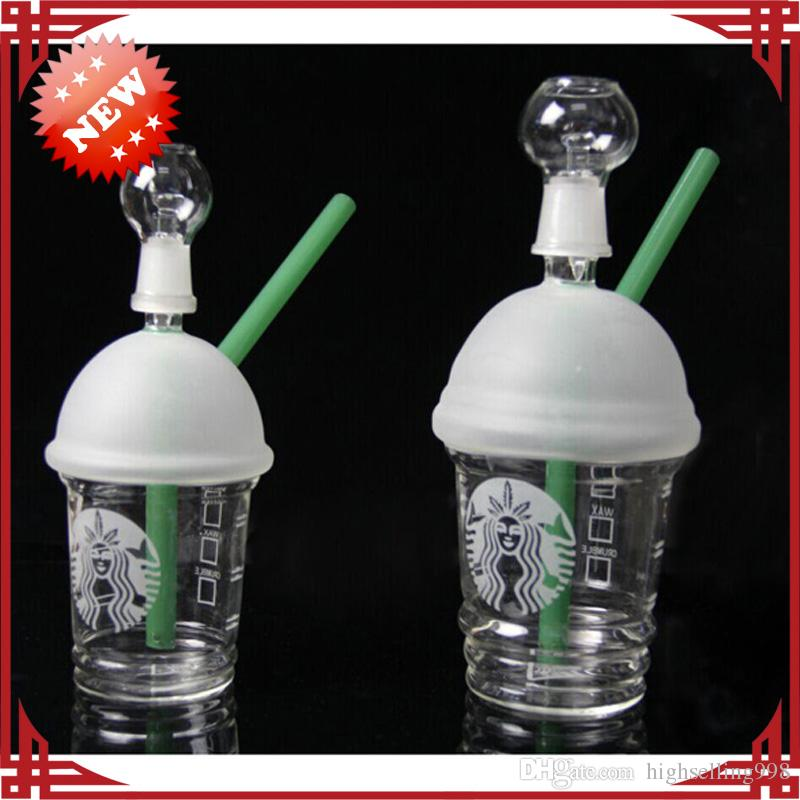 2017 new starbuck cup smoking pipes 3 types bongs glass for Types of water pipes