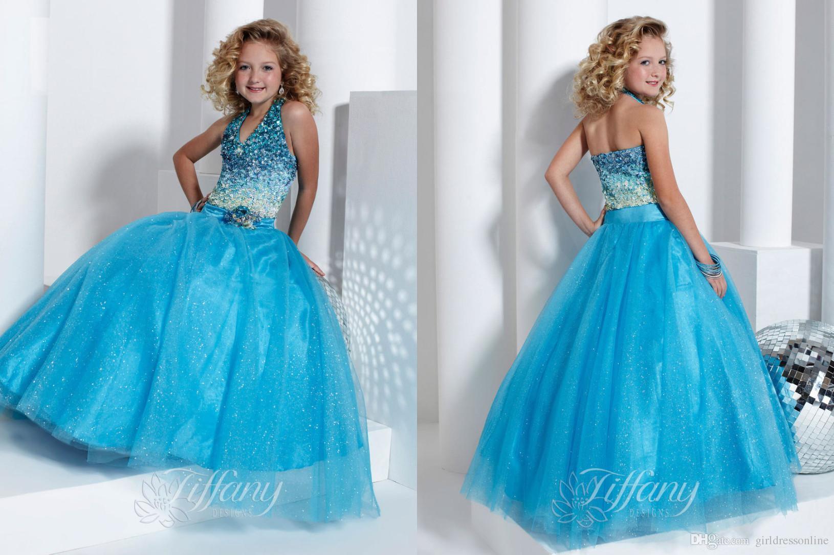 Flower Girl Dresses Light Blue 95