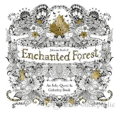 Enchanted Forest An Inky Quest Coloring Book For Children Adult Relieve Stress Kill Time Graffiti Painting Drawing 00895 Books