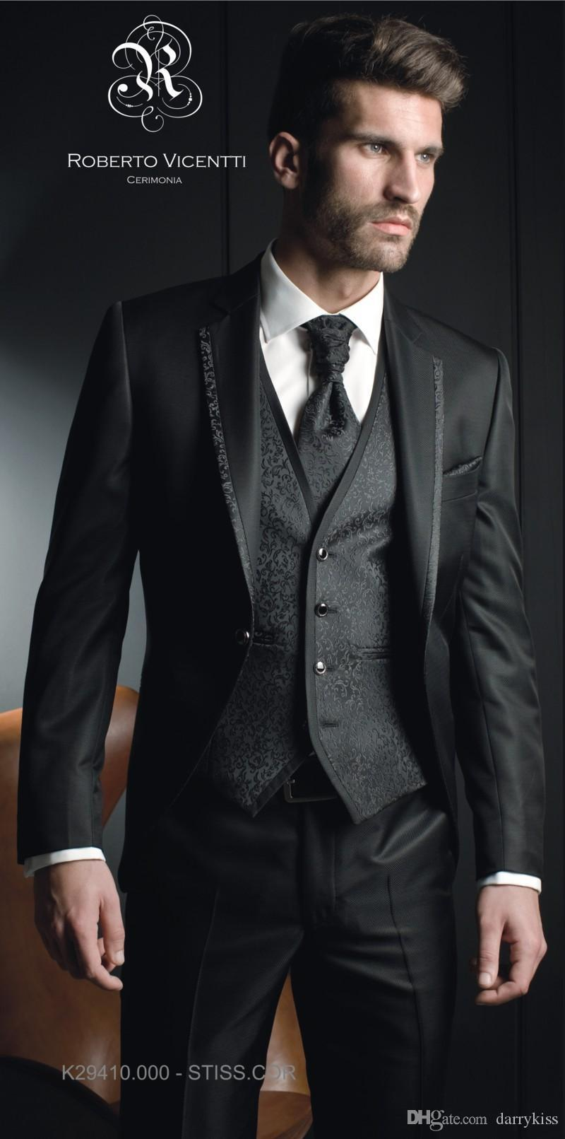 Awesome Black Wedding Suits For Groom Contemporary - Styles ...