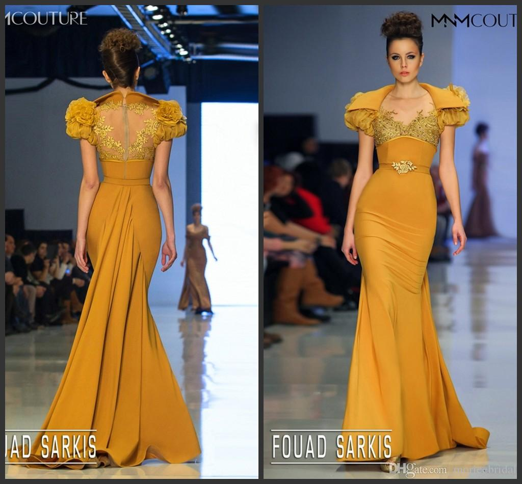 Mustard Color Prom Dresses 38