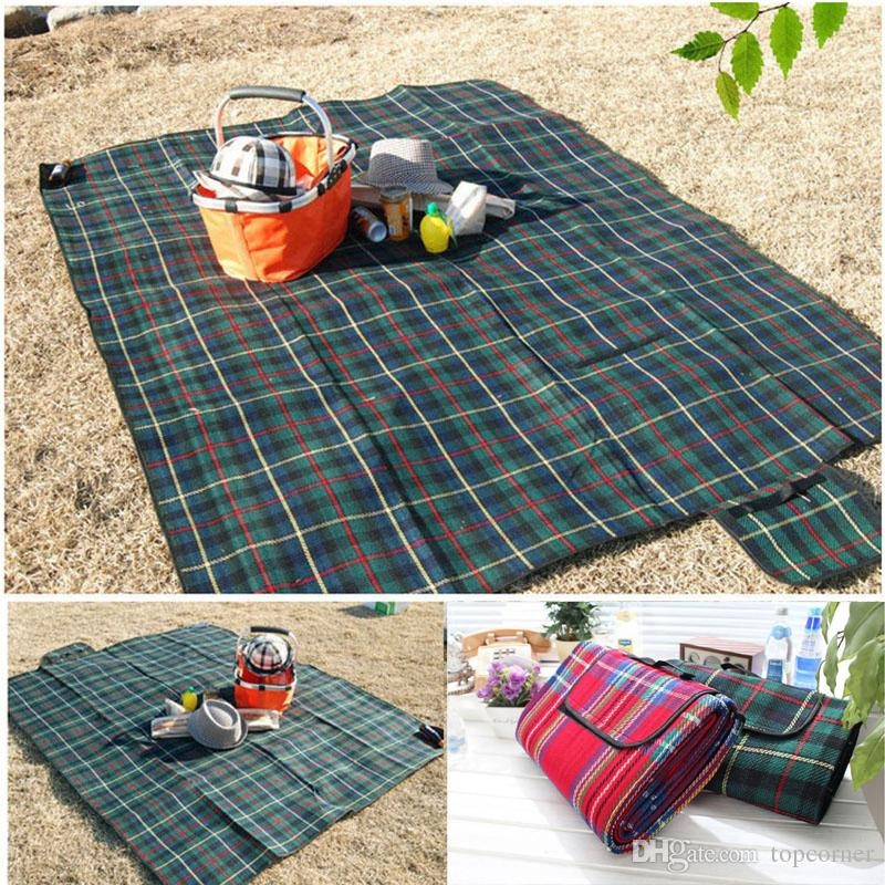200 150cm Folding Grid Rug Picnic Mat Outdoor Camping