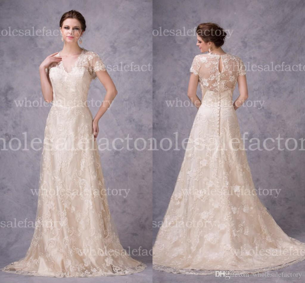 Designer Vintage Wedding Dresses - Overlay Wedding Dresses