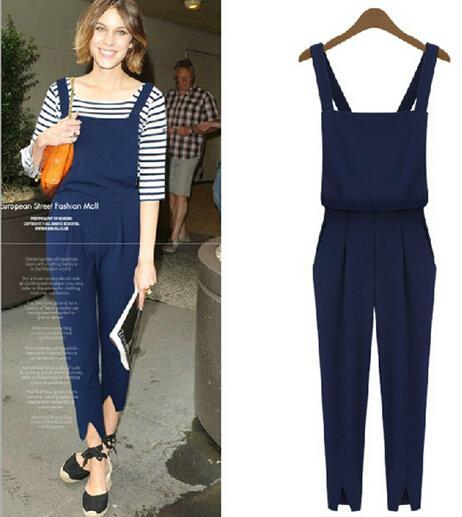 Best Polyester Overalls Ladies Playsuit Summer Women Casual ...