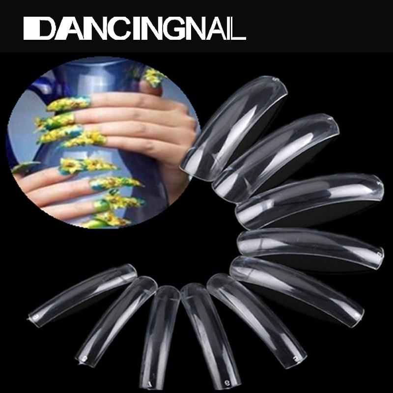 Wholesale clear french acrylic false nails uv gel polish for 33 fingers salon