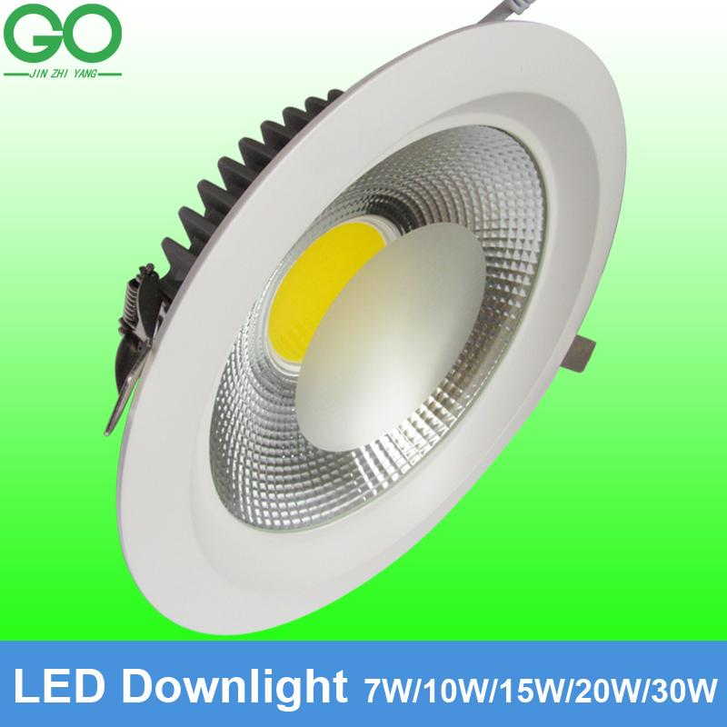 Led ceiling downlight 7w 10w 15w 20w 30w dimmable recessed - Downlight led 20w ...