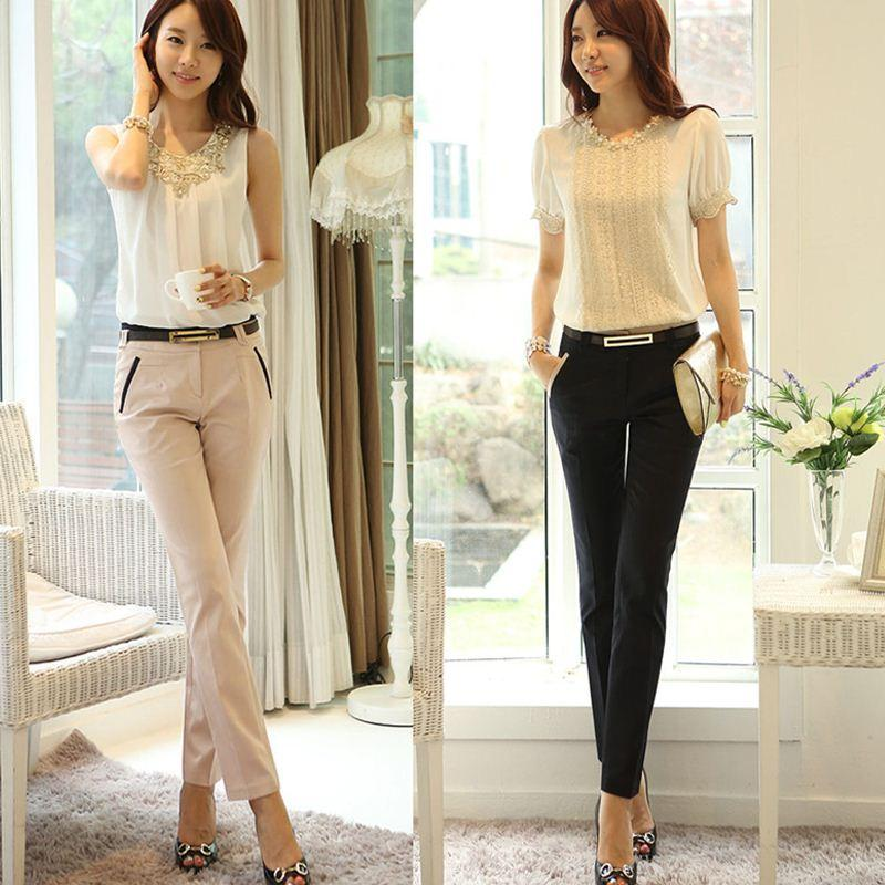 Best Quality Casual Ol Women Long Pants Hot Sale Contrast Details ...