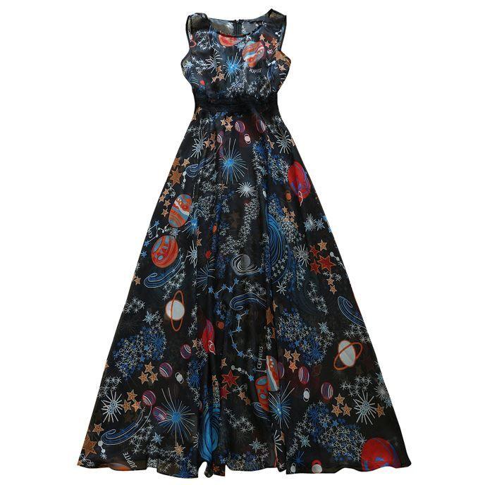 planet maxi dress