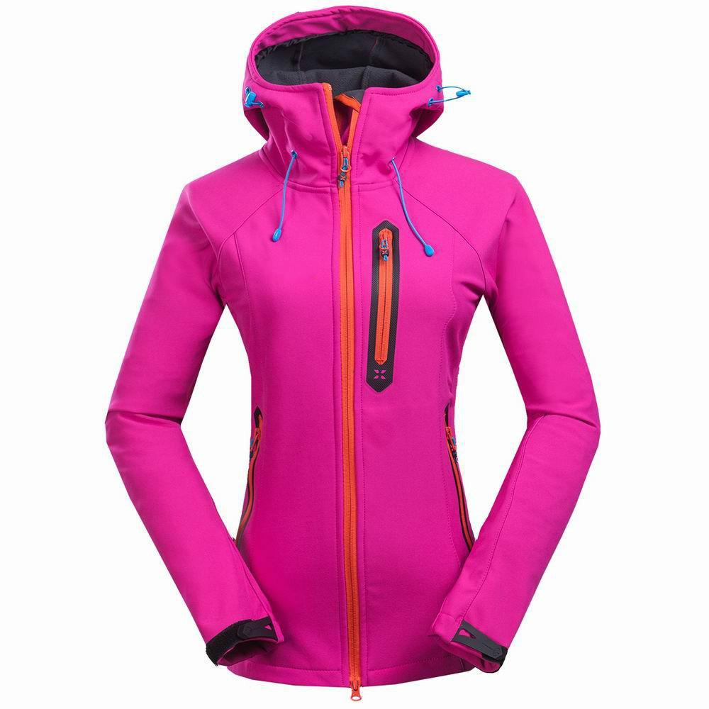 Women Softshell Waterproof Fleece Jacket Fashion Brands Hoodie ...