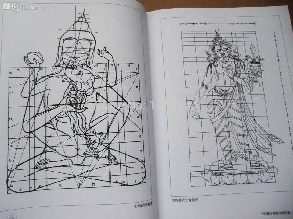 Wholesale tibetan buddhism buddha chinese painting book for Tattoo reference books