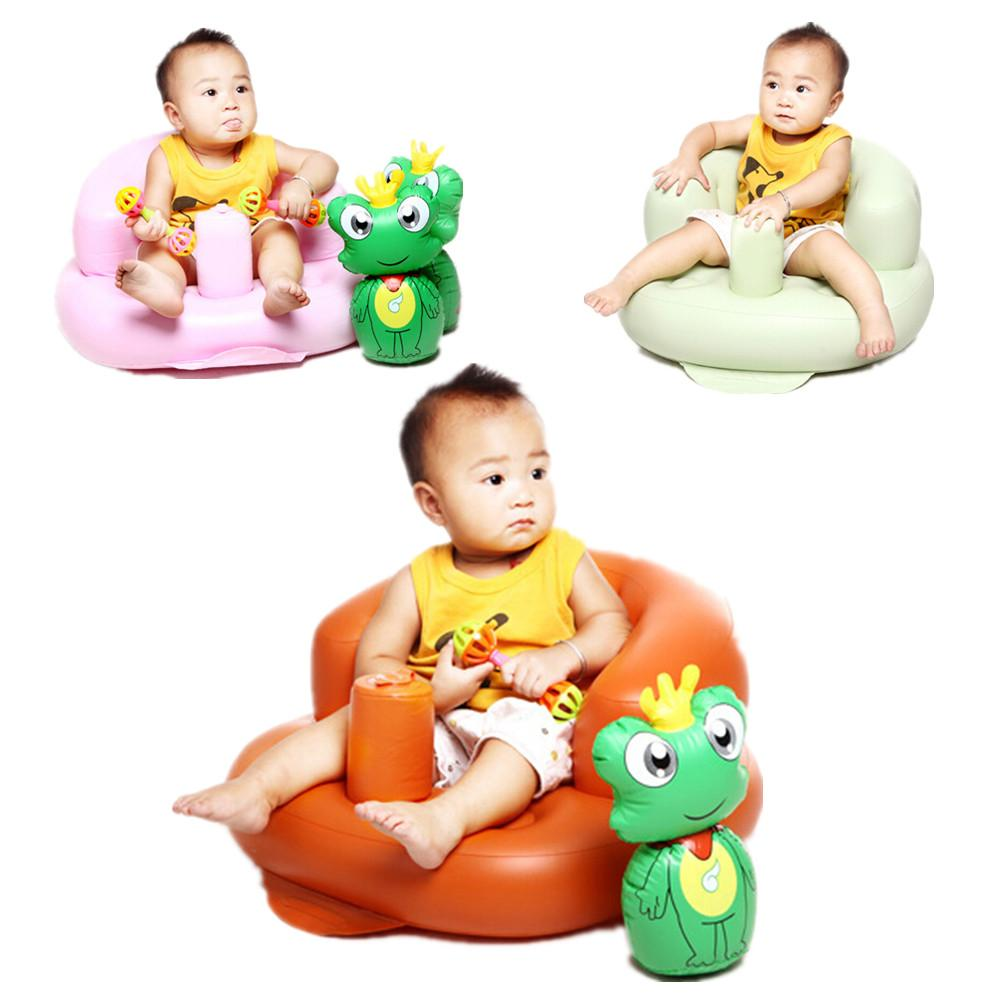 Baby play chairs - Baby Seat Chair Play Game Mat Sofa Safety Inflatable Baby Chair Portable Kids Sofa 1 Piece Color Send Randomly
