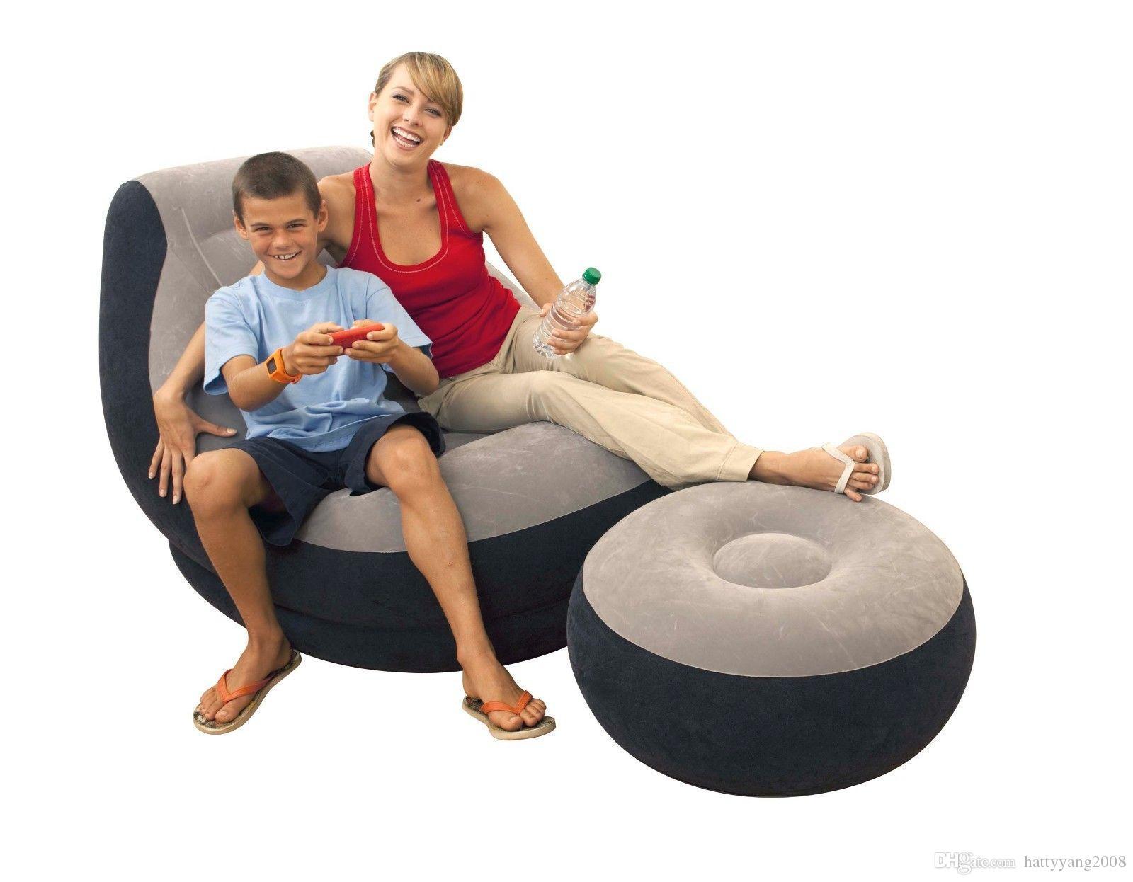 2017 Ultra Lounge Inflatable Chair Ottoman Sofa Dorm