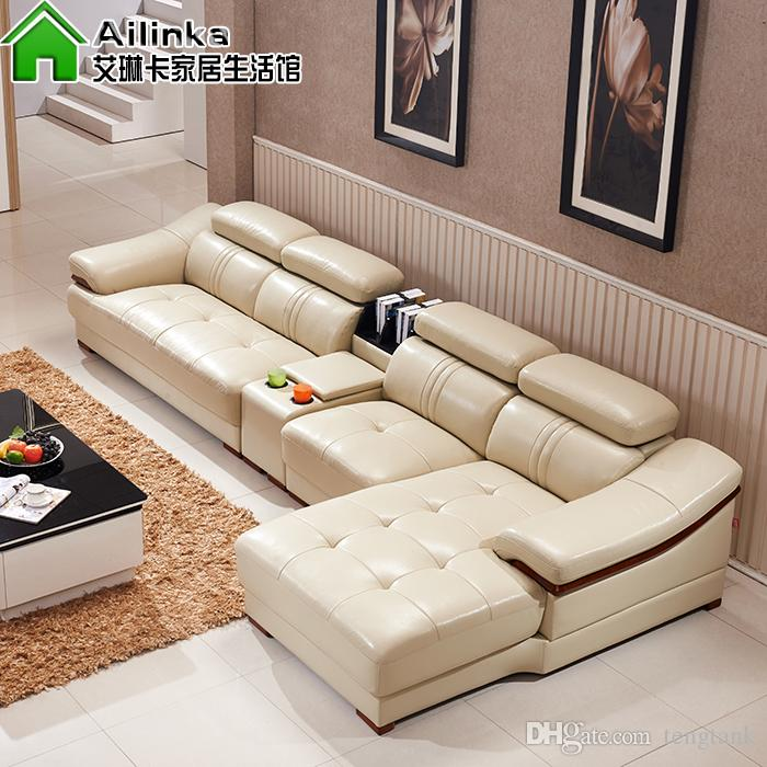 Cheap Genuine Leather Sectional Sofa: Wholesale Modern Genuine Leather Sofa In Sofa Furniture