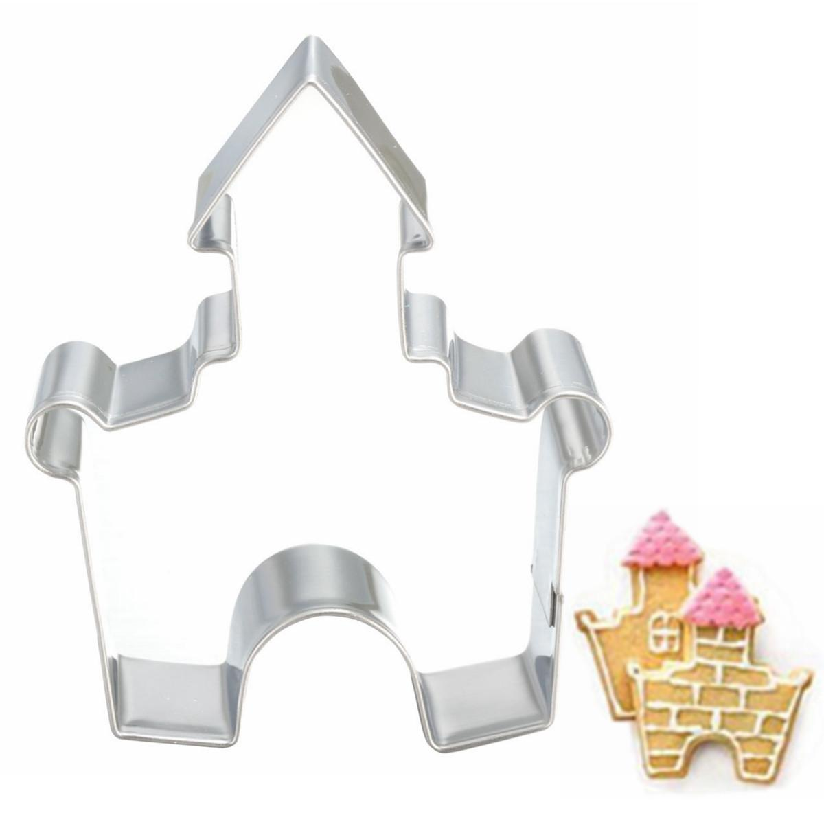 2017 stainless steel castle diy cookie cake mould cutter kitchen
