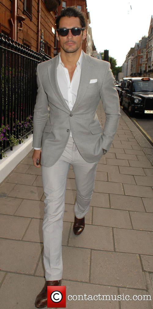2015 Summer Grey Linen Men Suits Notched Lapel Mens Wedding Suits ...