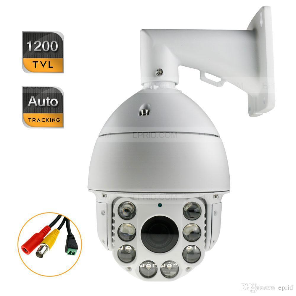Security HD Auto Tracking 1200TVL PTZ IR CCTV Camera 30X ...