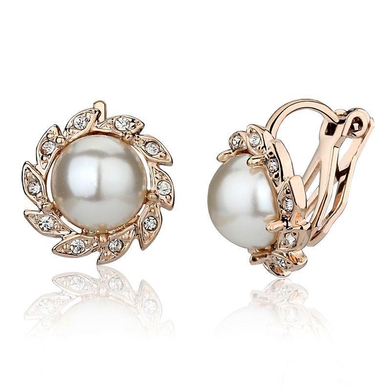 carlo us no ear clip earrings korea pearl earrings korean