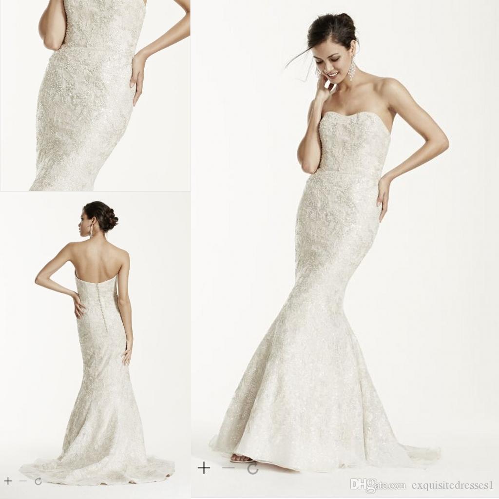 Cheap Elegant Wedding Dresses Strapless Mermaid Wedding