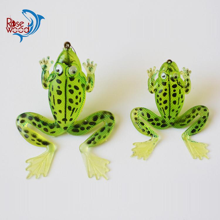 cheap fake artificial bait fishing frog lure soft plastic fishing, Soft Baits