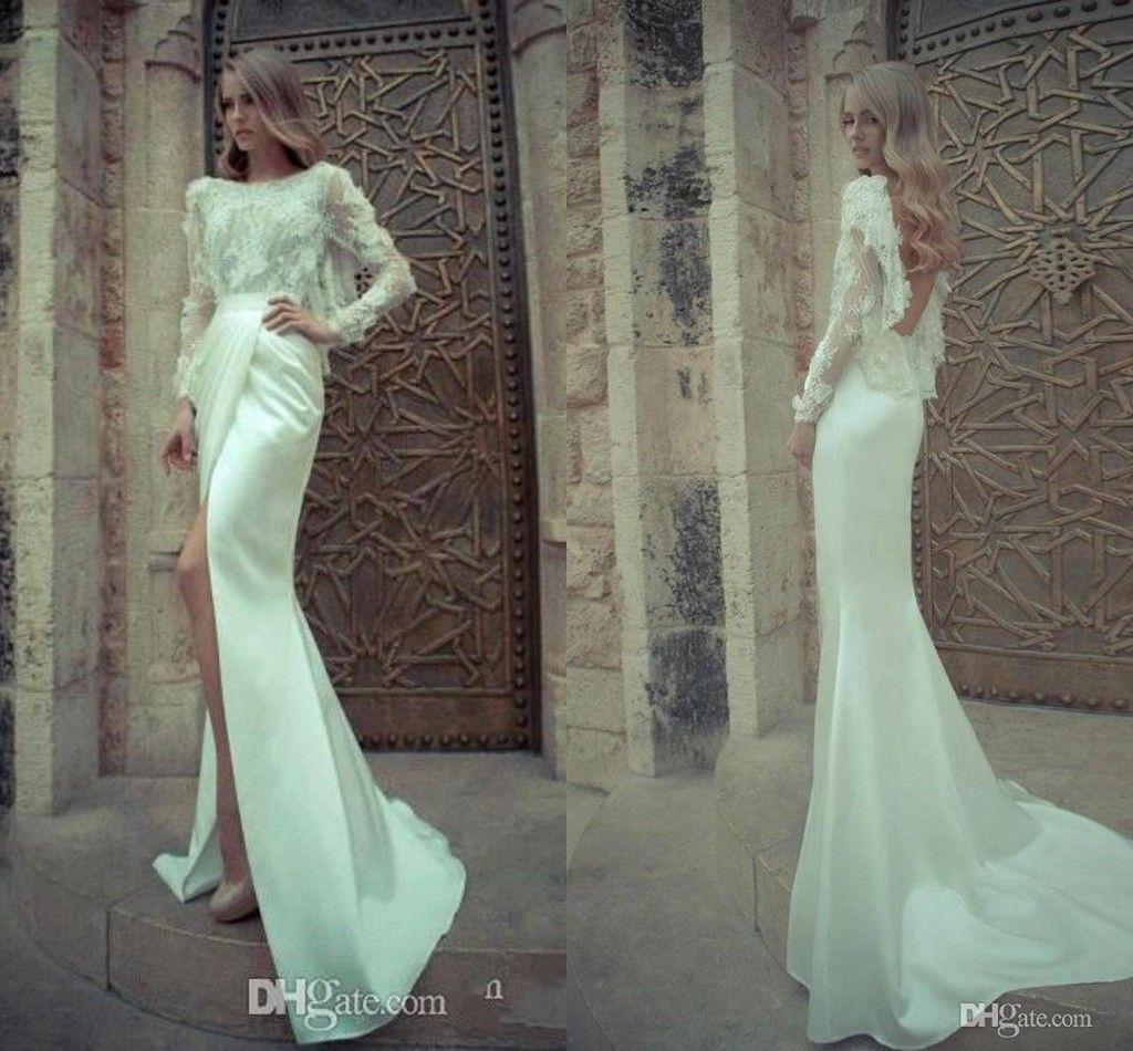 2014 Elegant Winter Yaki Ravid Wedding Dresses Mermaid