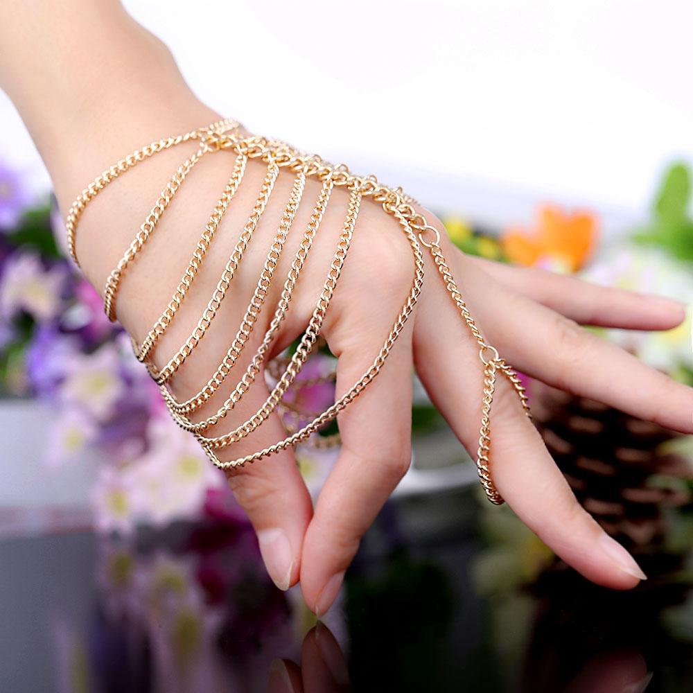 Online Cheap Hand Chain Bracelet For Girls Euro American