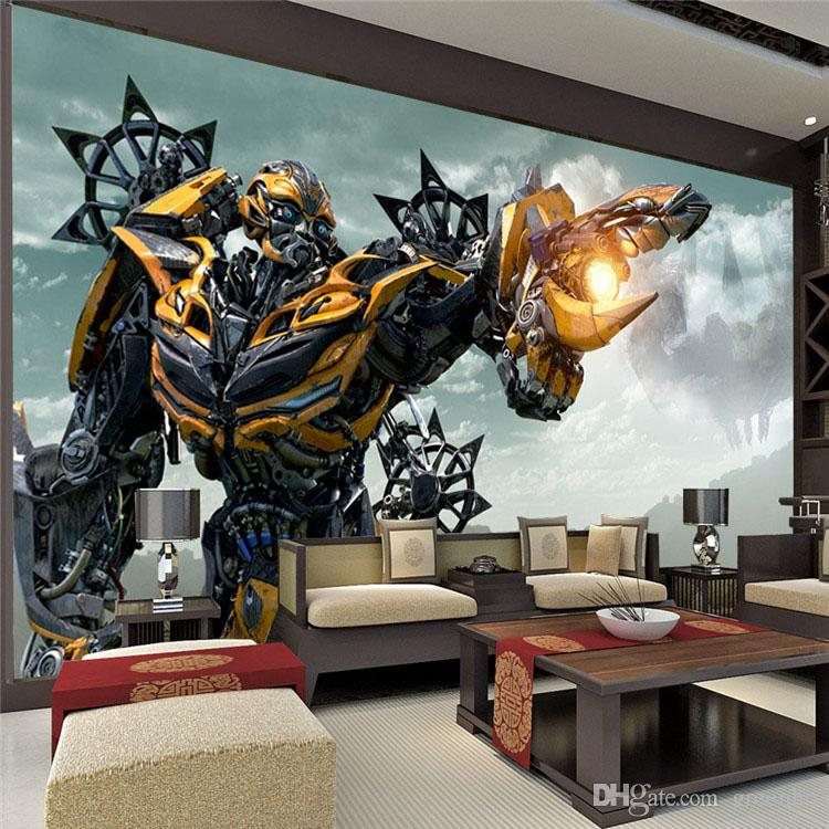 Transformers Bumblebee Wall Mural Large wall art Photo Wallpaper Designer wall stickers Children  39 s room Bedroom Custom Mural wallpaper