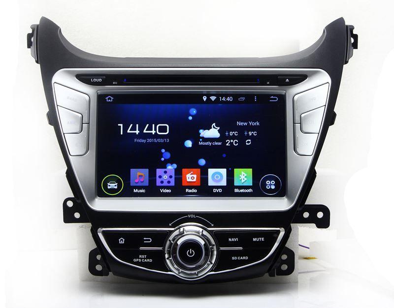 android 44 car dvd player for hyundai elantra avante i35 2011 2012 2013 2014 with gps navigation radio bt usb wifi dvr car dvd car multimedia car gps