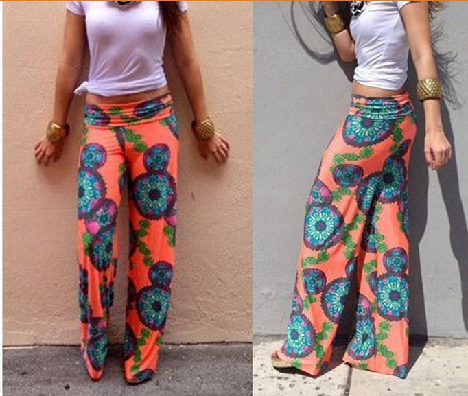Online Cheap 2015 Summer Women Wide Leg Pants Casual High Waist ...