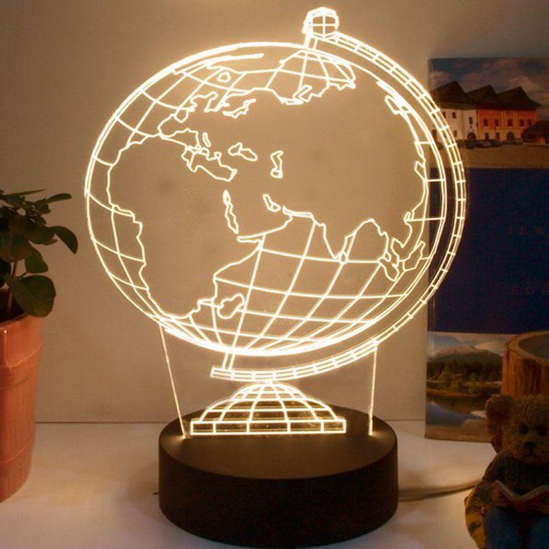 2017 globe 3d table lampe light lamparas de mesa tabel lamp for bedroom kids room lamp. Black Bedroom Furniture Sets. Home Design Ideas