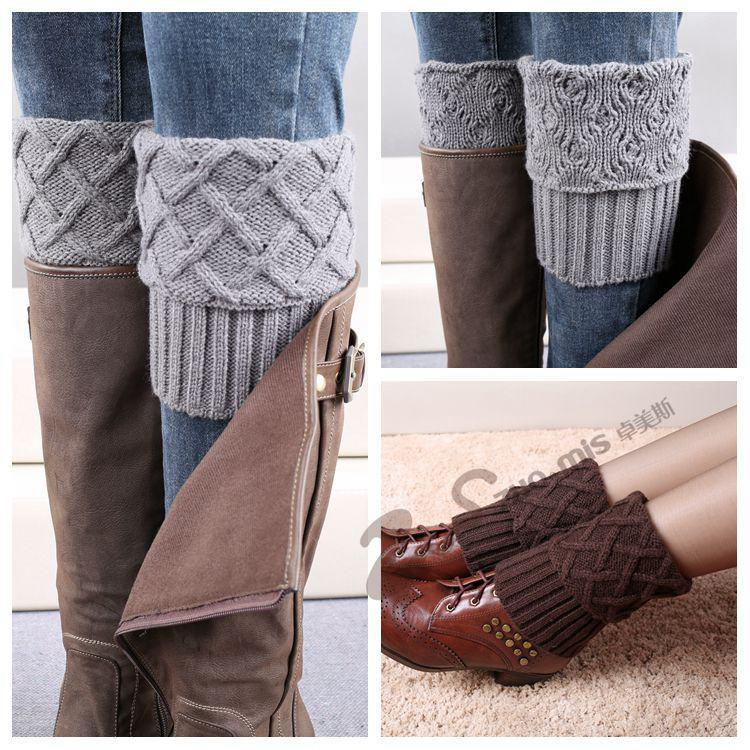 Knitting Pattern For Ladies Long Socks : Discount New 2016 Winter Warm Women Knitted Socks Knee ...