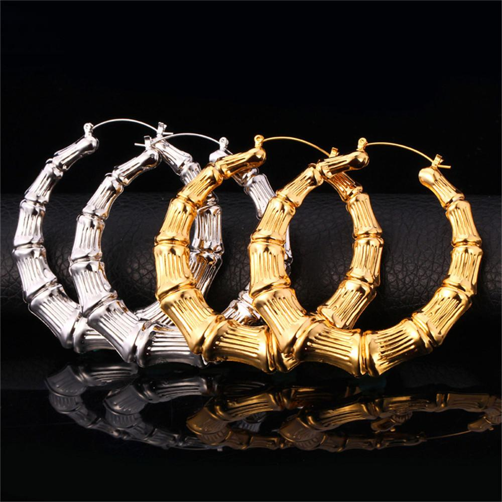 Big Size Diameter 70 Mm Hoop Earrings For Women New Fashion 18k Real Gold  Plated Novel Design Basketball Wives Earrings E664 Big Size Hoop Earrings
