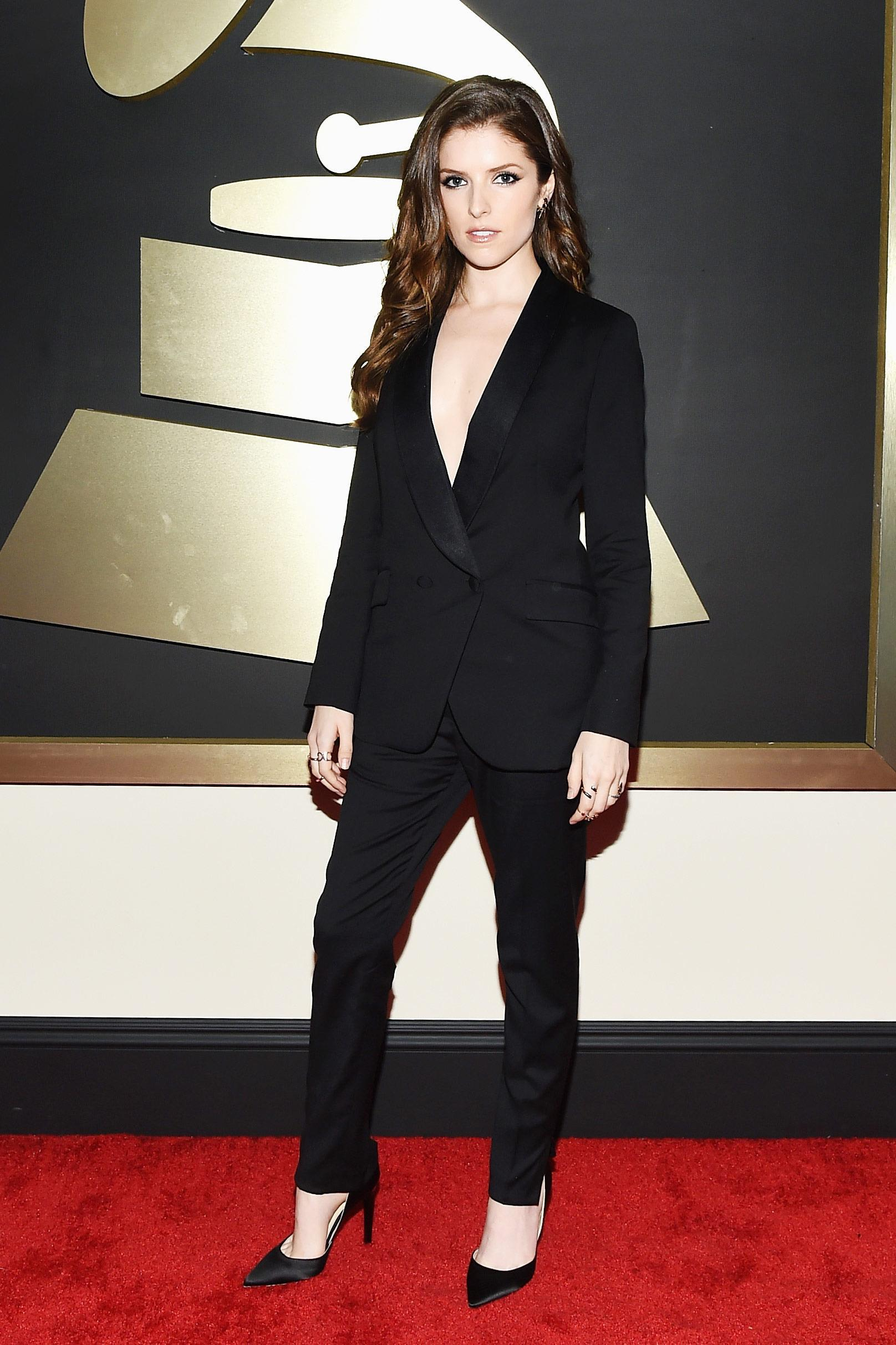 Online Cheap Anna Kendrick Grammy Black Women'S Suits Red Carpet ...