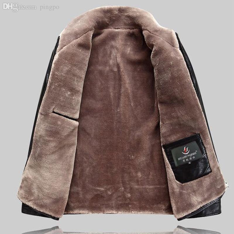 Fall-winter Jacket Men New Thick Leather Jacket Style Lamb Wool ...