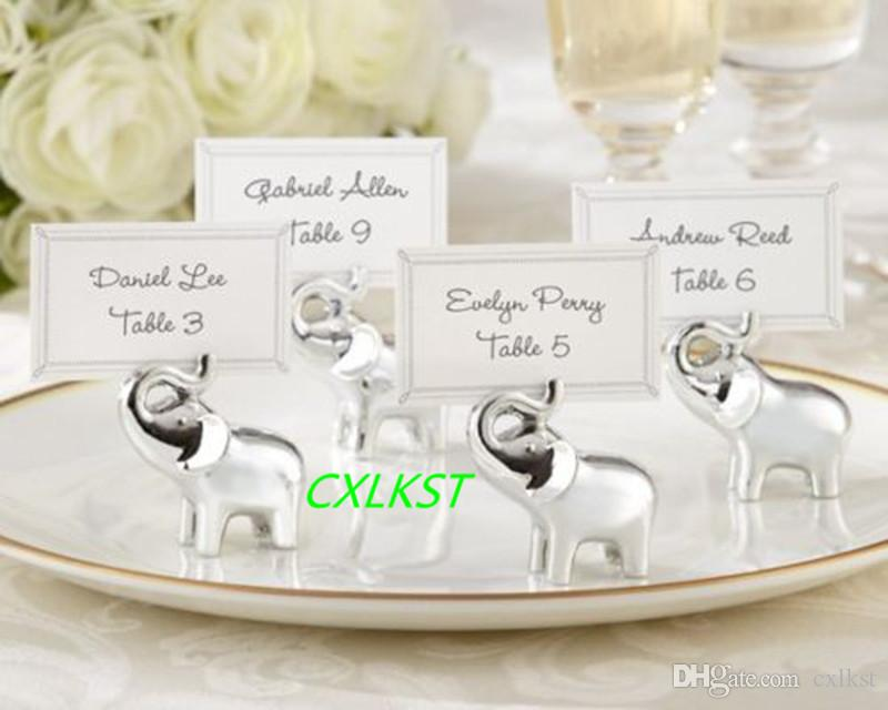 Elephant place name settings menu holders table names for Place settings name card holders