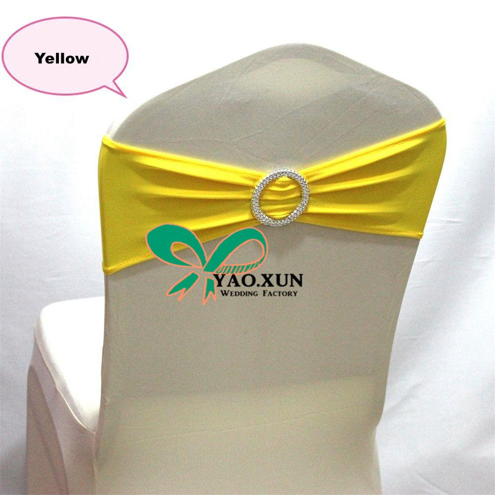 Yellow Color Chair Sash Chair Band With Buckle For