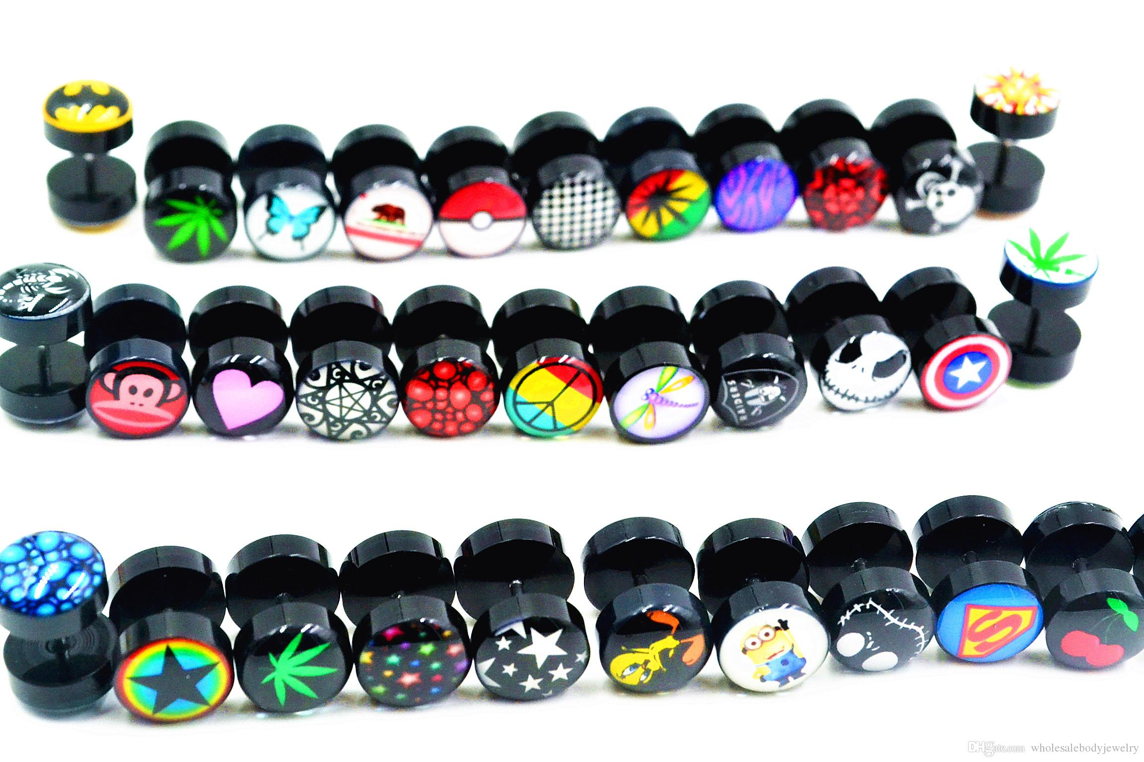 lothot sell new logos body jewelry fake ear plugs illusion ear tapers fake ear plugs cheater. Black Bedroom Furniture Sets. Home Design Ideas