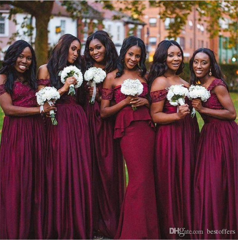 Deep Burgundy Bridesmaid Dresses Reviews  Deep Burgundy ...