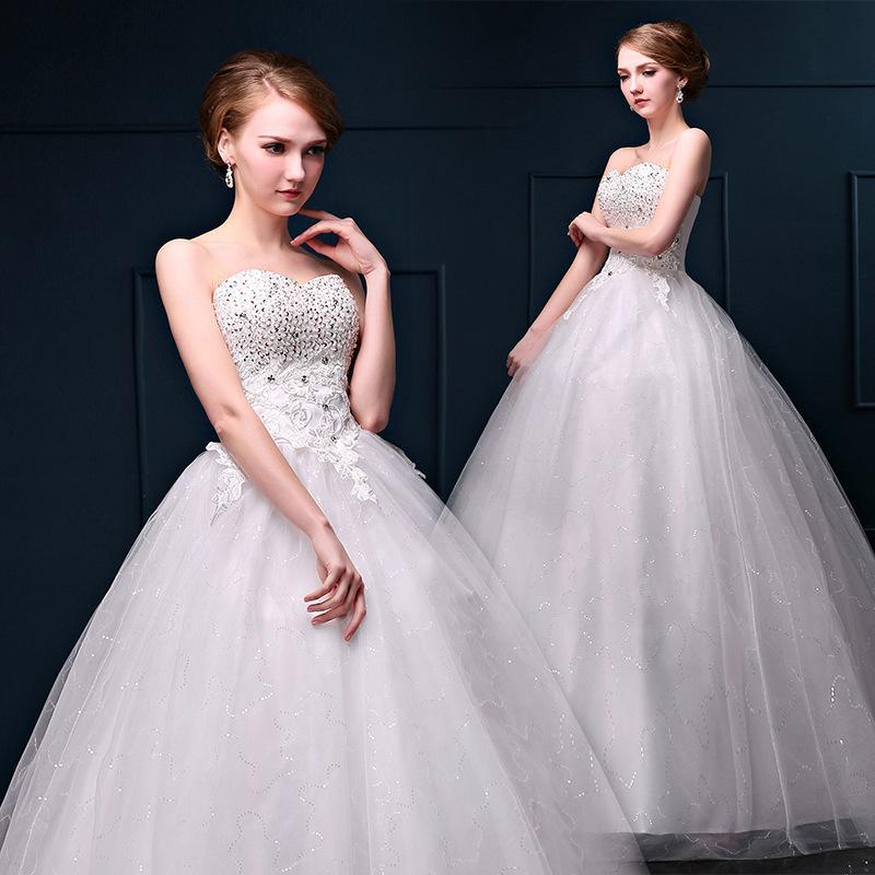 Wedding dress new spring 2015 korean yards pregnant bride for Bra for wedding dress shopping