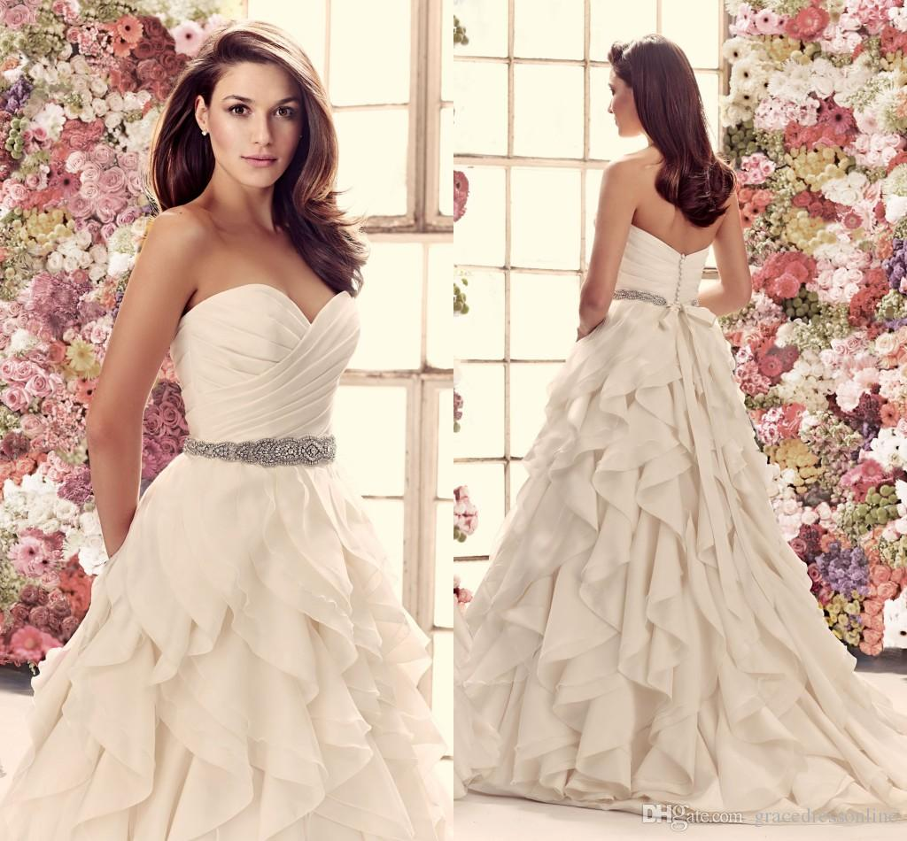 2014 Fall Mikaella Taffeta And Organza Wedding Dress Strapless ...