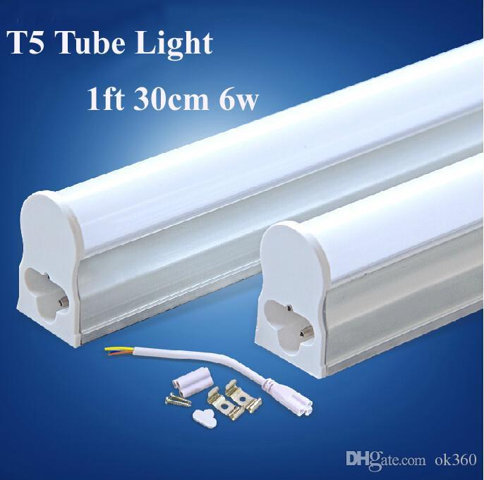 1ft 30cm t5 led tube lights integrated 6w led t5 fuorescent tubes lamp warm natrual cold. Black Bedroom Furniture Sets. Home Design Ideas