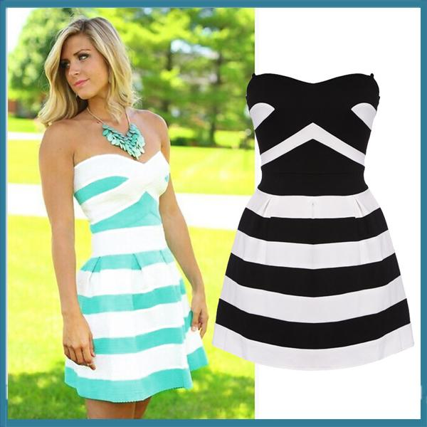 plus bandage dress stripe