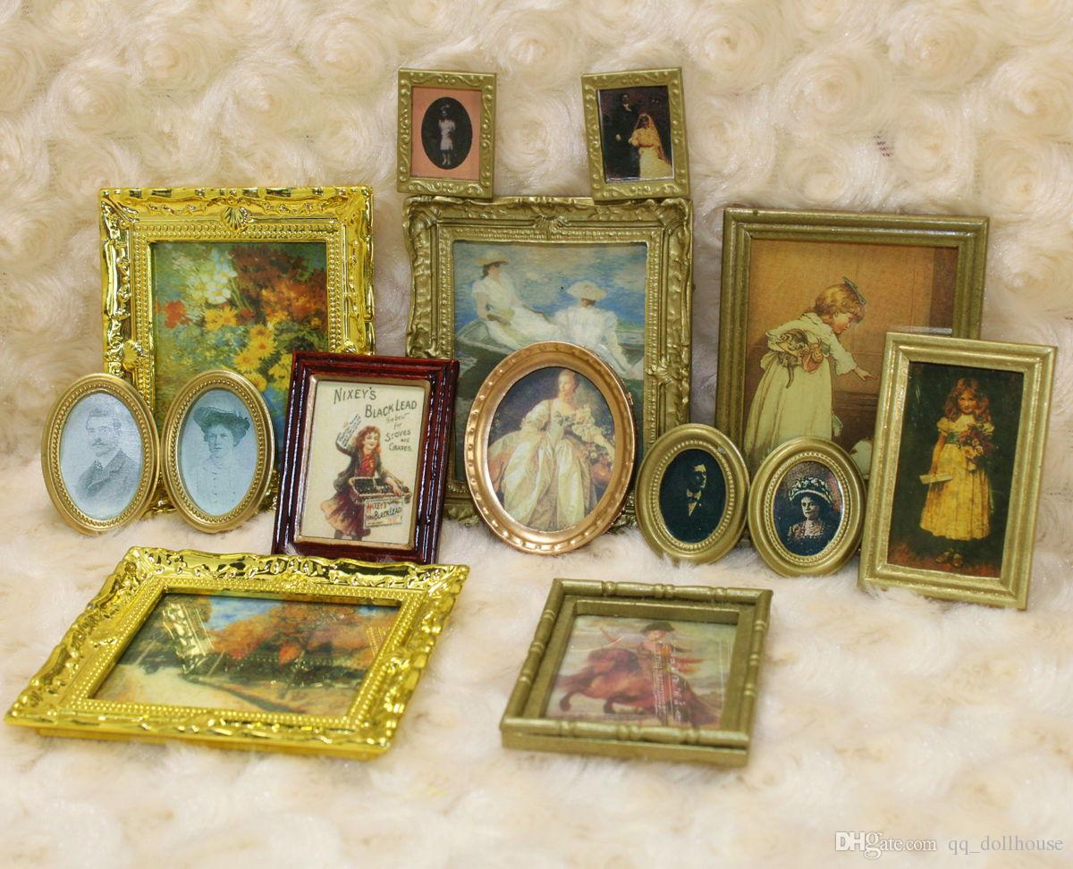 1 12 scale dollhouse miniature framed wall paintings home decor room items lot 3 numbers qq_dollhouse - Home Decor Wholesale